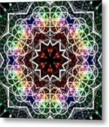 Mandala Cage Of Light Metal Print