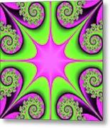 Mandala Cheerful Metal Print