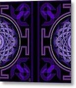 Mandala Hypurplectic - Stereogram Metal Print