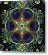 Mandala Peacock  Metal Print