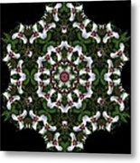 Mandala Trillium Holiday Metal Print