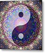 Mandala Yin Yang Metal Print