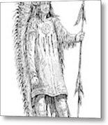 Mandan Indian Chief Metal Print