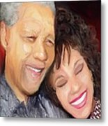 Mandela And Whitney Metal Print