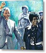 Mandela - Leaving Prison Metal Print