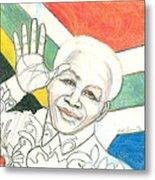 Mandela's Blooming Shirt Metal Print