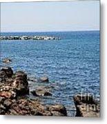 Mandraki Coastline Nisyros Metal Print