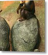 Mandrill On The Look Out Metal Print