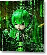 Manga Matrix Metal Print