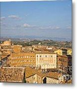 Mangia Tower Piazzo Del Campo  Siena  Metal Print