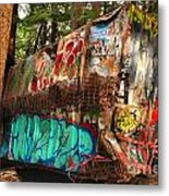 Mangled Whistler Train Wreck Box Car Metal Print