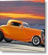 Mango Madness 1933 Ford Hiboy Coupe Metal Print