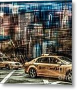 Manhattan - Yellow Cabs - Future Metal Print
