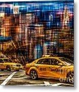 Manhattan - Yellow Cabs I Metal Print by Hannes Cmarits