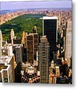 Manhattan And Central Park Metal Print