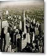 Manhattan And Chrysler Building II Metal Print