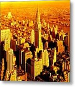 Manhattan And Chrysler Building Metal Print