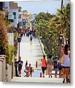 Manhattan Beach Boardwalk Metal Print