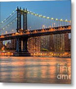 Manhattan Bridge I Metal Print