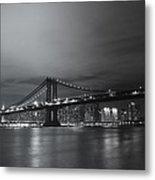 Manhattan Bridge - New York City Metal Print