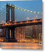 Manhattan Bridge Panoramic Metal Print