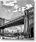 Manhattan Bridge - Pike And Cherry Streets Metal Print