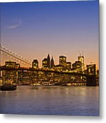 Manhattan Brooklyn Bridge Metal Print