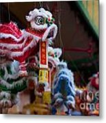 Manhattan Chinatown Decorations Metal Print