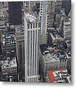 Manhattan City Canyons Metal Print