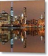 Manhattan Downtown Reflections Metal Print