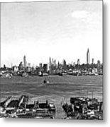 Manhattan From New Jersey Metal Print