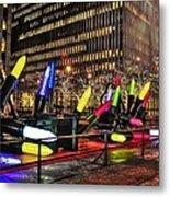Manhattan Holiday Decorations Metal Print