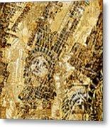 Manhattan Map Antique Metal Print