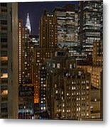 Manhattan Night Metal Print