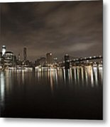Manhattan Night View 2 Metal Print