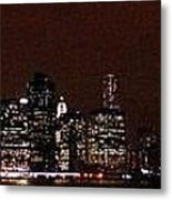 Manhattan On Super Weekend Metal Print