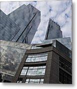 Manhattan Sky And Skyscrapers Metal Print