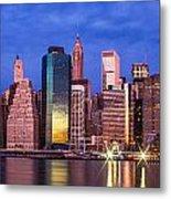 Manhattan Skyline At Sunrise Metal Print