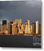 Manhattan Skyline At Sunset Metal Print
