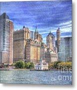 Manhattan Skyline From Hudson River Metal Print by Juli Scalzi