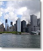Manhattan Skyline From The Hudson River Metal Print