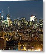 Manhattan Skyline, New York City, New Metal Print