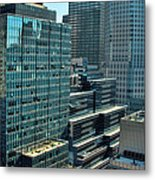 Manhattan Skyscrapers Labyrinth Metal Print