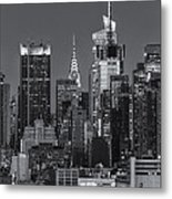 Manhattan Twilight Ix Metal Print by Clarence Holmes