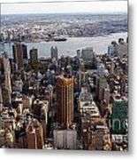 Manhattan View Towards Brooklyn Metal Print