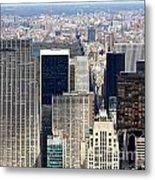 Manhattan View Uptown Metal Print
