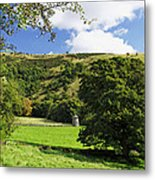 Manifold Valley And Dovecote - Swainsley Metal Print