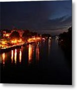 Manistee River Channel Metal Print
