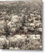 Manitou To The South In Snow Close Up Metal Print