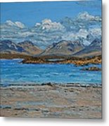 Mannin Bay And The Twelve Bens Mountains Connemara Ireland Metal Print